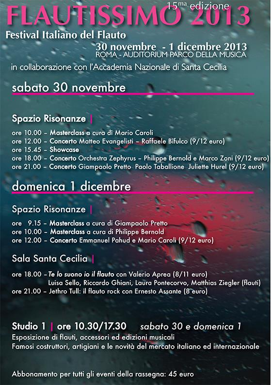 programma flautissimo 2013