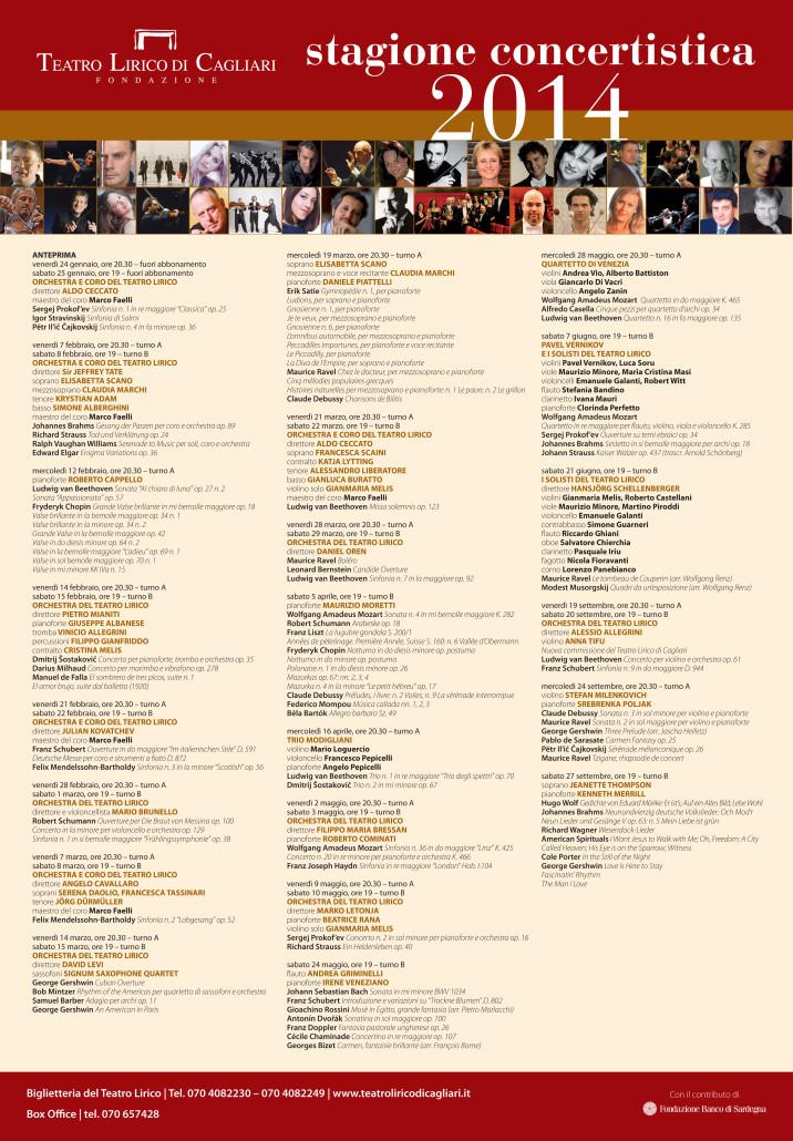 Concert season 2014